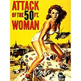 Movie Film Attack Fifty Foot Woman Sci Fi Giantess USA Art Large Art Print Poster Wall Decor 18x24 inch