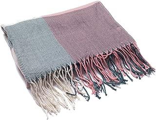 Women's Scarfs Shawl Wraps Work Basic Rectangle Scarf Color Block Splice Tartan Scarves