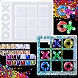 Tic Tac Toe Board Game Mold X O Board Games Silicone Epoxy Resin Molds Classic Game Home Decor Coffee Table Games for Kids Family Friends