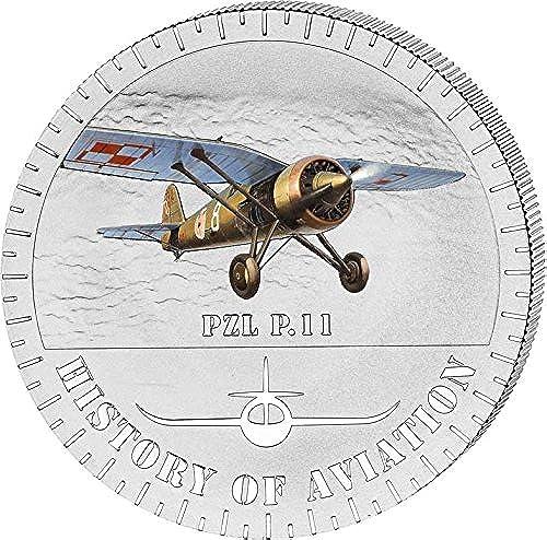 artículos novedosos Power Coin PZL P.11 History of Aviation Airplane Fighter Aircraft Aircraft Aircraft Moneda plata 5000 Francs Burundi 2014  A la venta con descuento del 70%.