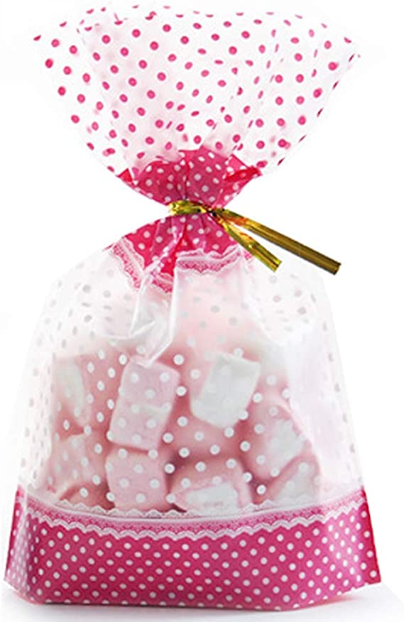 6 x GOLD STAGS HAMPER BASKET Gift Cake CELLOPHANE BAGS REINDEER CHRISTMAS