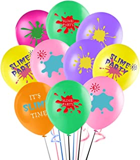 Slime Balloons, It's Slime Time Party Balloons Bouquet, 12Inch Slime Latex Balloon for Kids Colorful Fiesta Birthday Part...