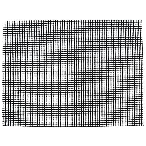 ohcoolstule Barbacoa Grill Mat, Tela de fibra de vidrio antiadherente rejilla hoja multifuncional barbacoa rejilla Mat para barbacoa al aire libre (black36* 42cm)