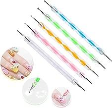 5 pc 2 Way Dotting Pen Tool Nail Art Tip Dot Paint Manicure kit