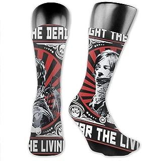 The Walking Dead Fear The Living Crew Socks Below the Knee Leisure Unisex Nidey