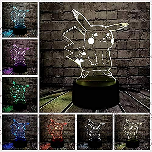 Luz de noche para niños de la serie de elfos 3D LED USB multicolor, decoración del hogar fiesta dormitorio luz nocturna niños s regalos controlador 7 colores estilo 6 creativa lámpara de ilusión 3D estilo 3