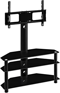 Artiss Floor TV Stand Mount for 32'' to 60'' LCD LED Plasma Flat Screens and Displays, Swivel and Height Adjustable