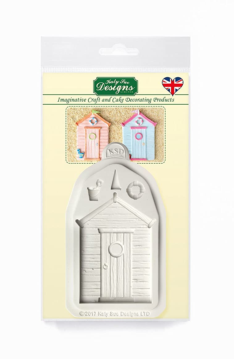 Katy Sue Beach Hut Silicone Mold for Cake Decorating, Cupcakes, Sugarcraft, Candies, Clay, Crafts and Card Making, Food Safe