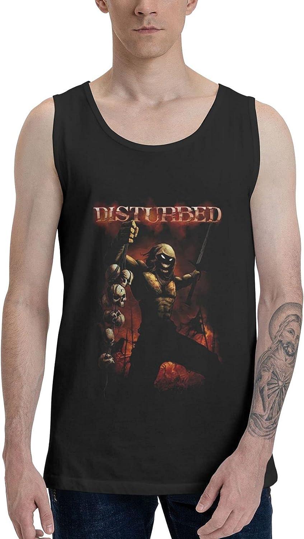 AlexBCody Disturbed Tank Top Men Summer Sleeveless T-Shirts Comfort Vest