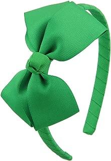 7Rainbows Cute Emerald Green Bow Headband for Girls Toddlers.