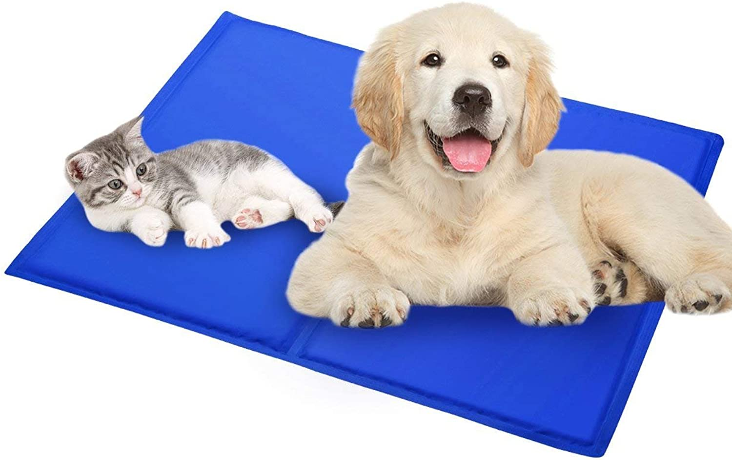 Dog Cooling Mat  Delaman Self Cooling Pet Gel Pad, Comfortable Cat Bed, Non Toxic, Breathable, Easy to Clean (Size   M)