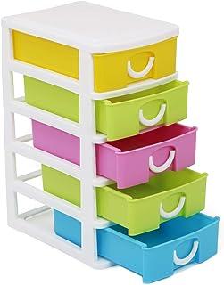 com-four® Cajón con Cinco Cajones para Accesorios de Bricolaje - Útil Organizador de Oficina con Cajones - Cajones de Arte...