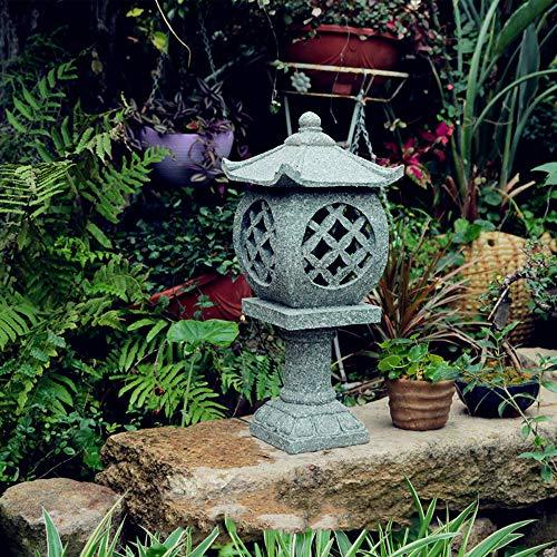 Decoración De Jardín Piso Al Aire Libre Linternas De Piedra Lámpara De Jardín Japonesa Antigua Lámpara De Palacio Inicio Decoración Al Aire Libre Para Interiores Paisaje Zen - (A B C D) D20*20 * 52cm