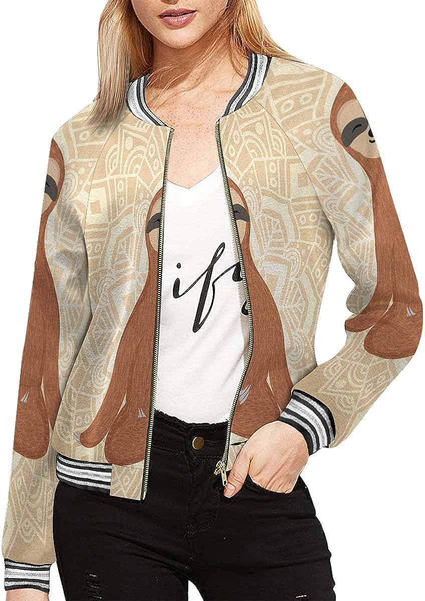 InterestPrint Women's Sleopard Portrait Stand Collar Long Sleeve Jacket