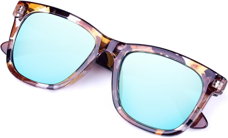 Classic Square Leopard Print Vintage Sunglasses,Flat PC lens for Men Women