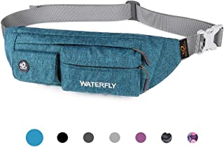 Fanny Pack Slim Soft Polyester Water Resistant Waist Bag Pack for Man Women Carrying iPhone 8 Samsung S6