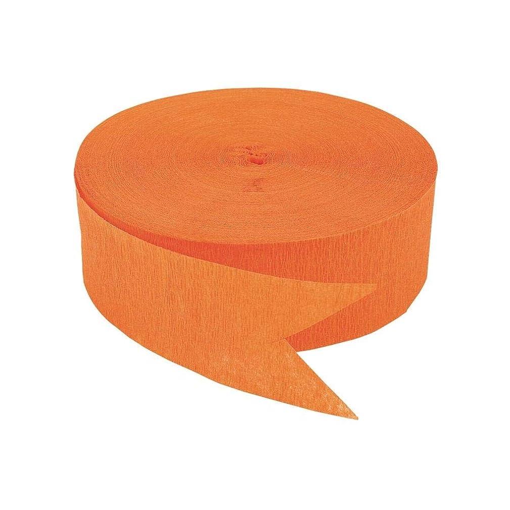 Bright Orange Jumbo Streamers (500 ft) by Fun Express