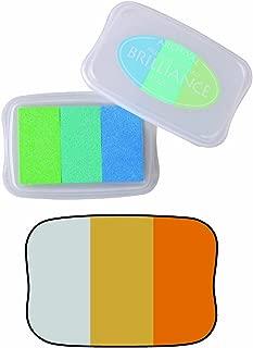 Brilliance 3-Color Pigment Inkpad Mineral-Silver, Pearl Gold, Pearl Platnm