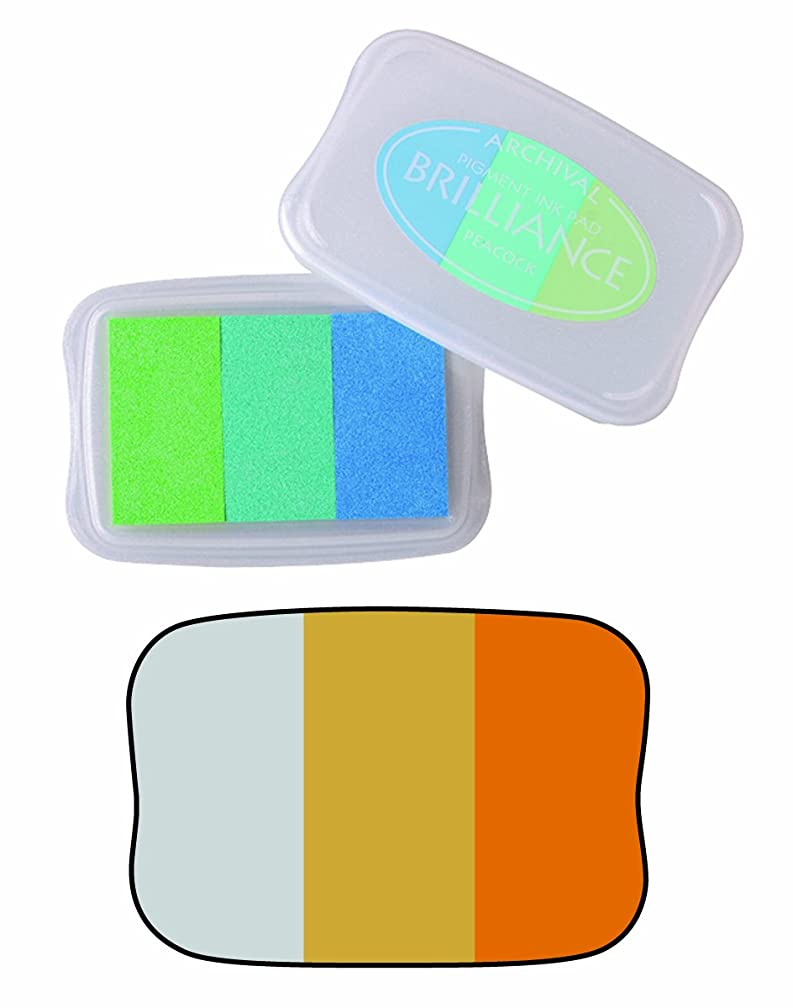 Brilliance 3-Color Pigment Inkpad Mineral-Silver, Pearl Gold, Pearl Platnm