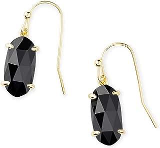 Kendra Scott Lemmi Drop Earrings in Black Opaque Glass, 14k Gold-Plated