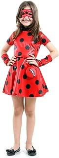 Fantasia Ladybug Vestido Infantil Sulamericana Fantasias Vermelho/Preto P 3/4 Anos