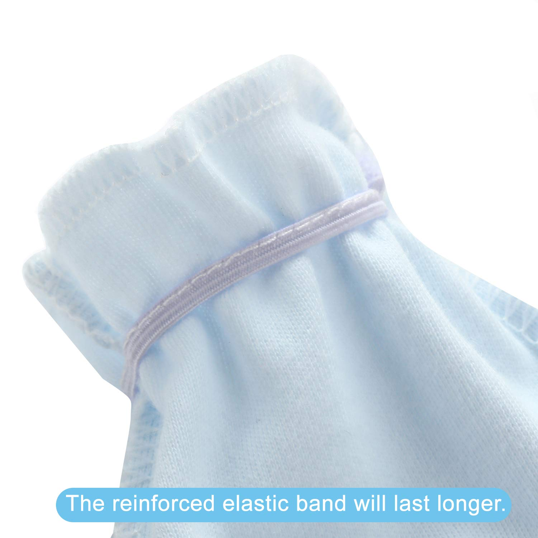 PandaEar (8 Pack) Newborn Baby Boys Girls Cotton Gloves No Scratch Mittens