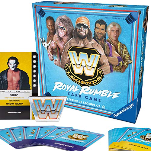 Ravensburger WWE Legends Royal Rumble Card Game for Kids and Adults  Includes 30 WWE Legends