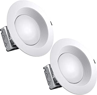 2-Pack 8 Inch Junction Box LED Retrofit Downlight, Luxrite, 25W (150W Equivalent), 5000K Bright White, 2200 Lumens, Dimmable, Wet Rated, 120-277V, Jbox LED Light, Energy Star
