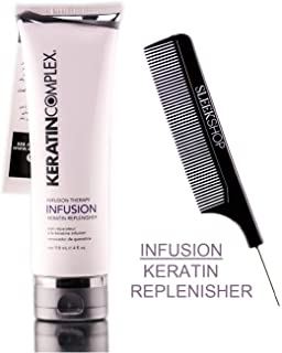 Keratin Complex INFUSION KERATIN REPLENISHER, Infusion Therapy (STYLIST KIT) Hydates & Smoothes Hair for a SILKY, SHINY, FINISH (4.0 oz / 118 ml - LARGE SIZE)