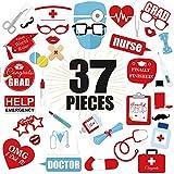 Sayala 37 pezzi infermiera graduazione Photo Booth puntelli - fai da te decorazioni per la laurea grande kit per 2021 forniture per feste di laurea, infermiera dottore festa di laurea forniture a tema