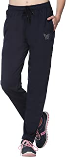 Comfortable Plain Navy Blue Cotton Track Pants for Women/Girls (M to 5 XL Sizes)