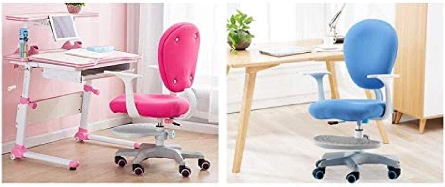 chaise FHW de Bureau d'étude Enfant exécutif Recline, Confortable d'écriture Respirant Facile à Nettoyer étudiants de Bureau (Color : Pink1) Pink1