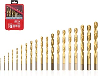 flintronic® HSS Boorset, High Speed Steel Boor Bits Gereedschap Titanium Coated Twist Bits voor Hout, Kunststof of Alumini...
