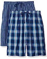 Hanes Men's 2-Pack Woven Pajama Short, Dark Blue, 4X-Large
