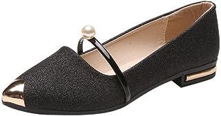 Flat Shoes for Women,WEUIE Women's Slip-Ons Comfort Pointed Toe Single Shoes Dance Ballet Flats Ballerina