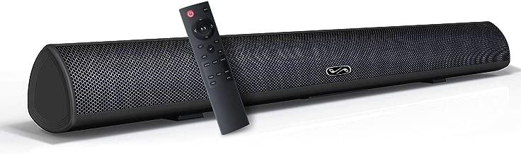 Sound Bar, BYL Soundbar for TV, Wired & Wireless Bluetooth 5.0 Speaker, Home Theater Surround Sound System (28 Inch, Infrad Remote Control, DSP, Bass Adjustable)