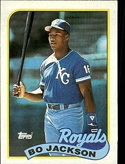 1989 Topps Baseball #540 Bo Jackson Kansas City Royals Official MLB Trading Card (stock photo used, Sharp corners guaranteed)