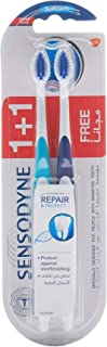 Sensodyne Advanced Repair and Protect Toothbrush for Sensitive Teeth, Soft, 2 Pieces