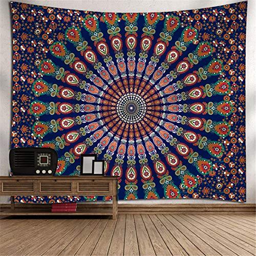 Heeboode Tapestry Wall Hanging,Tapiz psicodélico Bohemio Hippy Mandala G2784 Tapiz Dormitorio Sala de Estar hogar Tapiz de Arte,Estera de Picnic al Aire Libre de la Toalla de playa-60x90cm(23x35in)
