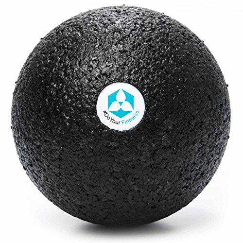 #DoYourFitness Faszienball groß - Massage-Ball | ideal für Faszientraining (Muskeln & Bindegewebe), Selbstmassage & gegen Verspannungen (BlackCat groß)