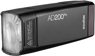 Godox AD200Pro Pocket Flash 2.4G TTL Speedlite Flash Strobe HSS Monolight con batería de litio 2900 mAh 200 Ws y Bare Bulb...
