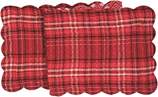 C&F Home Andrew Red Cotton Quilted Reversible Table Runner 14x51 Table Runner