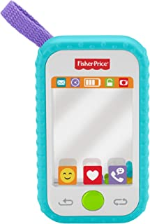 Fisher-Price Selfie Fun Phone, Baby Rattle, Mirror and Teething Toy
