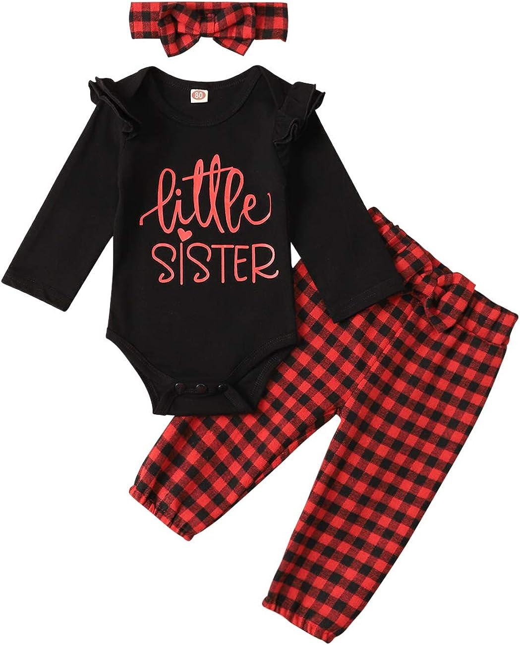Newborn Little Sister Big Sister Matching Outfits Baby Girls Romper Shirt Tops Floral Skirt Dress Pants Clothes Set