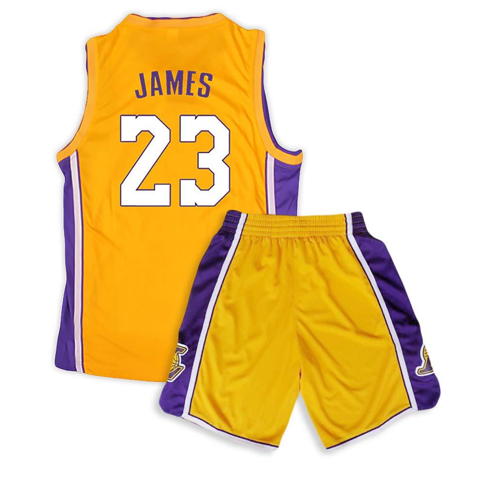 Camiseta de baloncesto Lakers Lebron James Kobe Bryant Fans de la NBA para niños y adolescentes adultos, james-yellow, XXS(130-145CM): Amazon.es: Deportes y aire libre