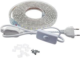 Ruban LED avec Interrupteur 5050 IP65 étanche , 3 Mètres, Blanc froid