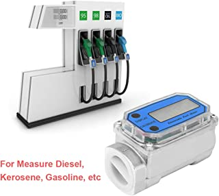 1″ Digital Turbine Flow Meter,Gas Oil Fuel Flowmeter,Pump Flow Meter ,Diesel Fuel Flow Meter,High Accuracy,for Measure Diesel, Kerosene, Gasoline, etc.(Blue)