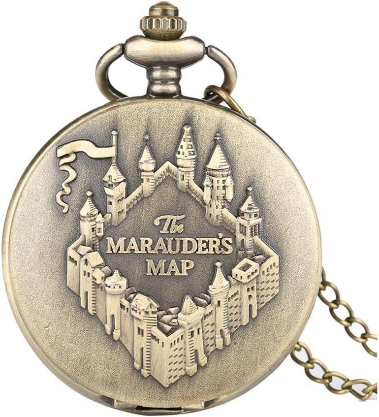 Over item handling GANFANREN Gifts Map Copper Pocket Watch Pendant Vintage Necklace Clock