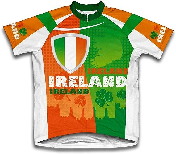Ireland Maillot de Cyclisme Manches Coutes pour Homme