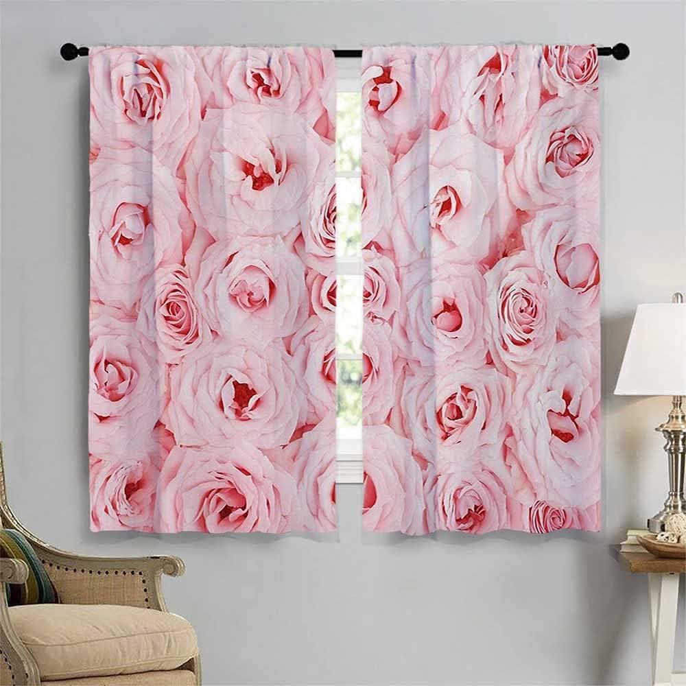 Rose Bedroom Curtains Sweet Fresh Yard Max 40% OFF Garden Scenic Max 52% OFF Seasonal Ve